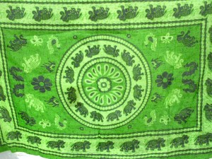lucky elephant green sarong clothing beach wear