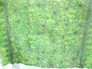 sarong green tiedye with floral prints