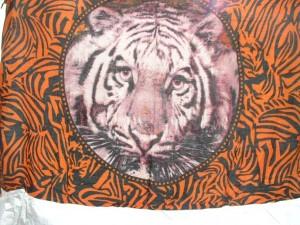 tiger and animal skin brown sarong
