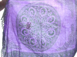 purple celtic sarong wiccan pagan alter cloth cover