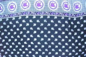 purple elephant black sarong