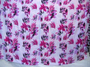 pink and white flower sarong