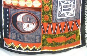mask tribal red sarong