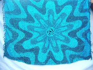 blue bursting design beachwear batik clothing