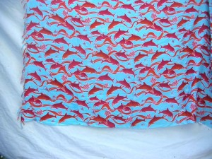 red dolphins blue sarong