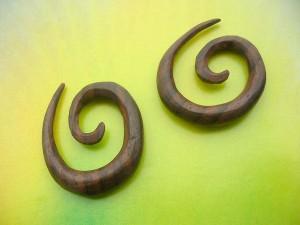 Organic Spiral Wood Ear Expander