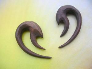 wood organic ear stretchers
