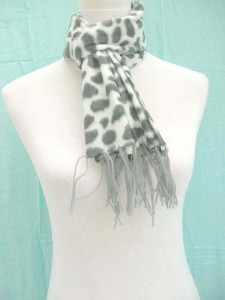 acrylic felt scarves in animal skin prints