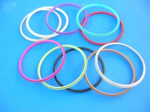 mixed color fashion bangles