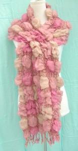 ruffle bumpy square bubble scarf shawls