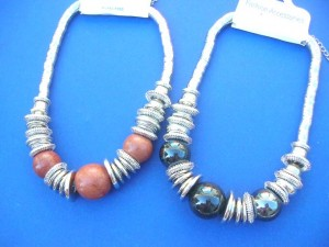 chunky beads bold and beautiful jewelry necklace  18 to 20 inches long