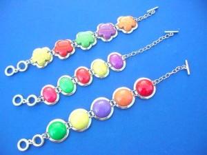 dyed reconstructed gemstone toggle bracelet