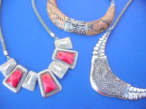ethnic design costume jewelry necklaces  18 to 20 inches long