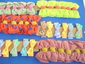 fabric bow tie hair clips, women's hair bow clip wholesale lot