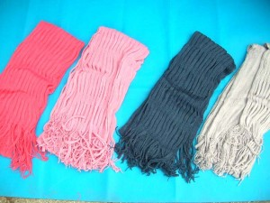 hollow knit neck circle cowl scarf, polyester fashion women tassels shawl wrap loop warmer 70 inches long (include tassels), 8 inches wide (loop diameter) mixed colors randomly picked by our warehouse staffs