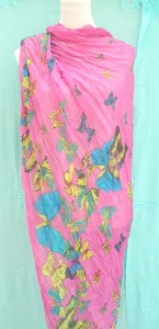 crinkle light shawl wrap scarves in butterfly designs 100% polyester, soft cotton feel 68 inches long, 44 inches wide mixed colors randomly picked by our warehouse staffs