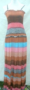 Hippie multi striped maxi dresses. Comfortable fabric 95% Polyester+5% Spandex