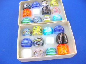 mixed designs murano glass lampwork art rings mixed size 6 to 9