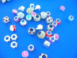 pandora style metal beads mix include disco ball beads with cz, color enamel beads, cz spacers etc