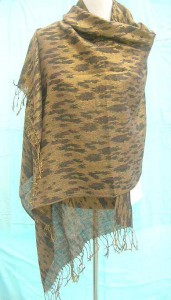 discount pashmina shawls and wraps in brown gold color mixed colors randomly picked by our warehouse staffs