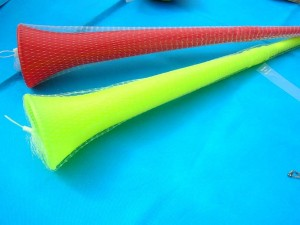 plastic long horn, plastic didgeridoo 25.50 inches long, large end 4 inches in diameter