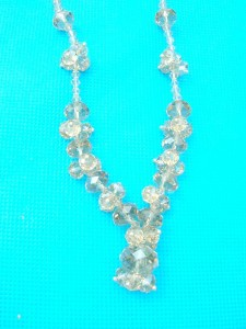 rhinestone beaded necklace