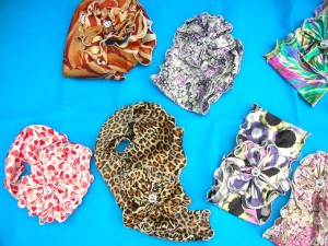 satin neck scarf belt corsage in mixed colors and prints 35 inches long, 6 inches wide mixed colors randomly picked by our warehouse staffs