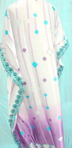 silky satin nightdress pullover, sleepwear tuni kaftan with embroidery border