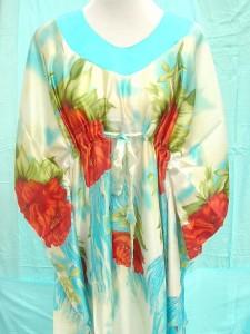 silky satin nightdress pullover, sleepwear tuni kaftan, floral designs
