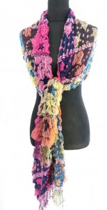 bubble wrap scarf with fringe, beautiful colors, warm and cozy scarves and wraps 80 inches long (include tassels), 12 inches wide (without stretched), can be stretched up to 22 inches wide