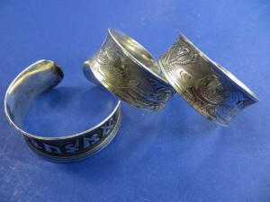 antique silver design wide bangle cuffs