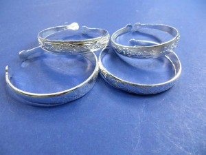 fashion silver plated jewelry bangle bracelet cuff