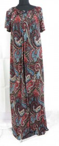 Kaftan lounge wear short sleeve maxi dresses. Made of comfortable fabric 95% polyester, 5% spandex. High quality, trendy design, made in China. Approximate 59 inches in length. Bust and waist 54 inches. Fits over size women. One size fits for all (S, M, L, X., 1X, 2X, 3X, 4X, 5X, 6X )