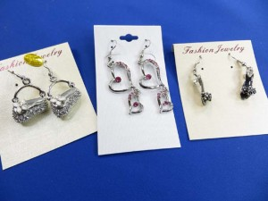 cz fashion earrings in assorted designs, total around 8 to 10 designs