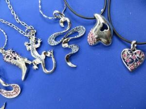 cz rhinestone pendant necklaces