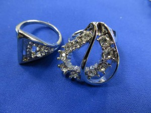 cz crystal fashion rings in assorted designs, around 8 to 10 designs