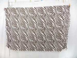 black and white zebra skin sarong