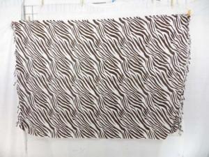 black and white zebra skin sarong