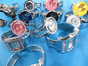 mixed designs bangle watches, most of them are with cz crystals