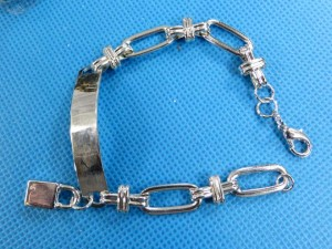 assorted design silver tone bracelets