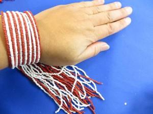 beaded tassel bracelet in assorted colors