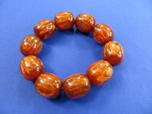stretchy chunky brown bead fashion bracelet