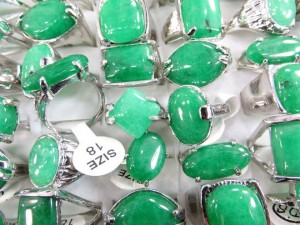 green jade fashion rings size randomly pick between 6 to 10