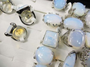white opalite rings  size randomly pick between 6 to 10