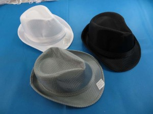 unisex fabric fedora hats / gangster hats