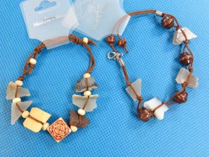 handmade stone nugget bracelets