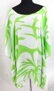 Rayon tropical Hawaiian flower kaftan caftan top. Made in Bali Indonesia.. Approximate 32 to 34 inches in length. Bust and waist 60 to 62 inches. Fits over size women. One size fits for all (S, M, L, X., 1X, 2X, 3X, 4X, 5X, 6X )