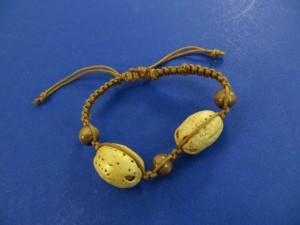 brown hemp macrame handmade bracelet