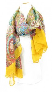 bohemian design half seethough scarf shawl sarong stole, beachwrap bathing suit cover-up 100% polyester, soft cotton feel Approximately 68 to 70 inches long, 42 to 44 inches wide