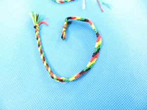 woven braided friendship bracelet raggae rasta jewelry 11 inches in length